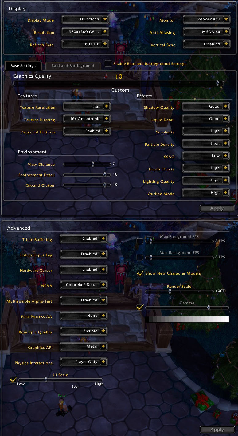 Graphic Settings for Legion - World of Warcraft Forums